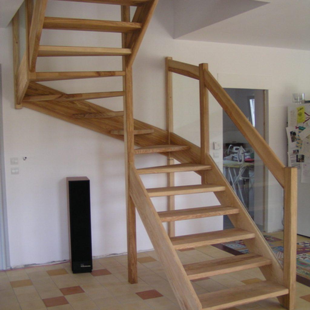 03 01 escalier contemporain espace bois. Black Bedroom Furniture Sets. Home Design Ideas