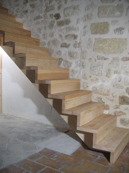 Escalier Bois Droit : 09-01 Escalier droit sur cr?maill?re ? Espace Bois