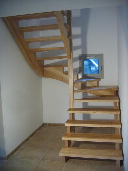 09 03 escalier 2 4 tournant rampe sur rampe avec. Black Bedroom Furniture Sets. Home Design Ideas