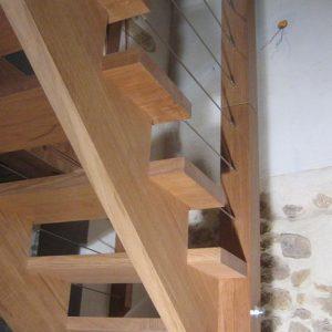Escalier à crémaillère - espace-bois.com